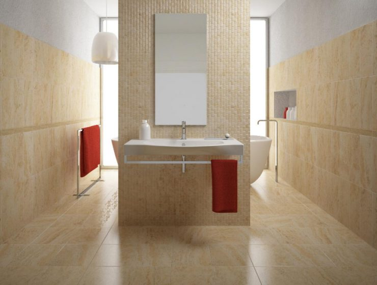 wall covering Find The Perfect Wall Covering For Your Bathroom 1405441949525 740x560