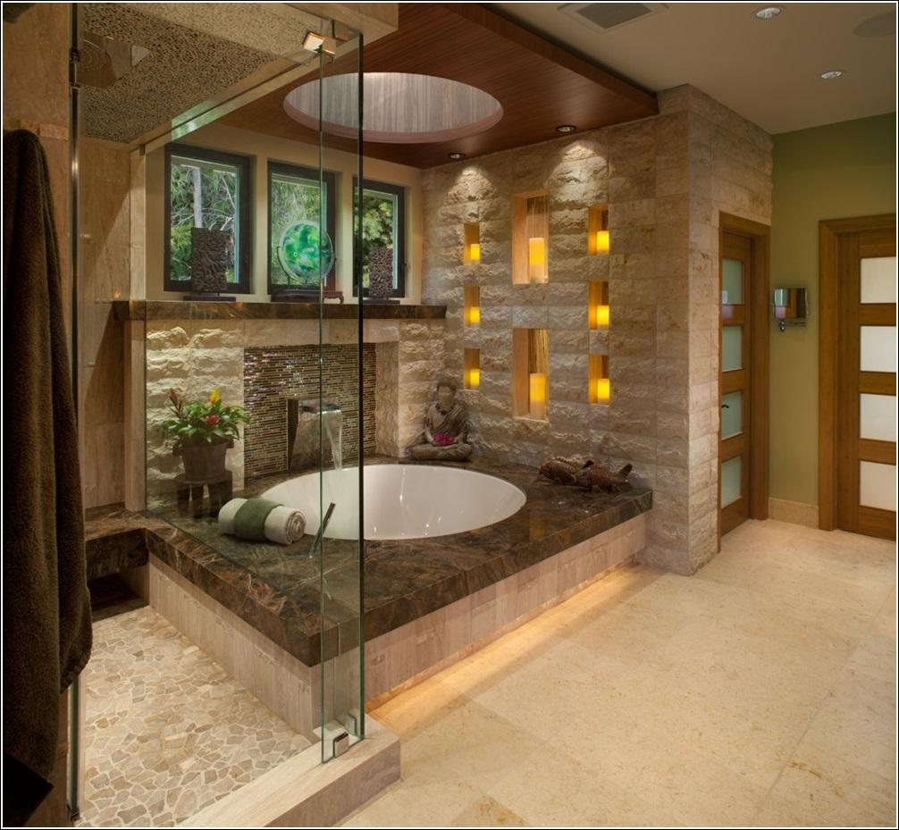 Luxury Bathrooms.Read More: http://www.maisonvalentina.net/en/inspiration-and-ideas/sem-categoria/luxury-bathroom-tips luxury bathroom 5 Luxury Bathroom Tips Modest Spa Style Bathroom Ideas 55 inside Home Interior Design with Spa Style Bathroom Ideas