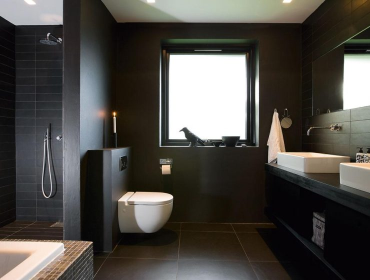 luxury bathroom 5 Luxury Bathroom Tips black modern bathroom photo design small dark l gray tile in kahtany apinfectologia part bath ideas designs simple for bathrooms remodel renovations shower room latest 740x560
