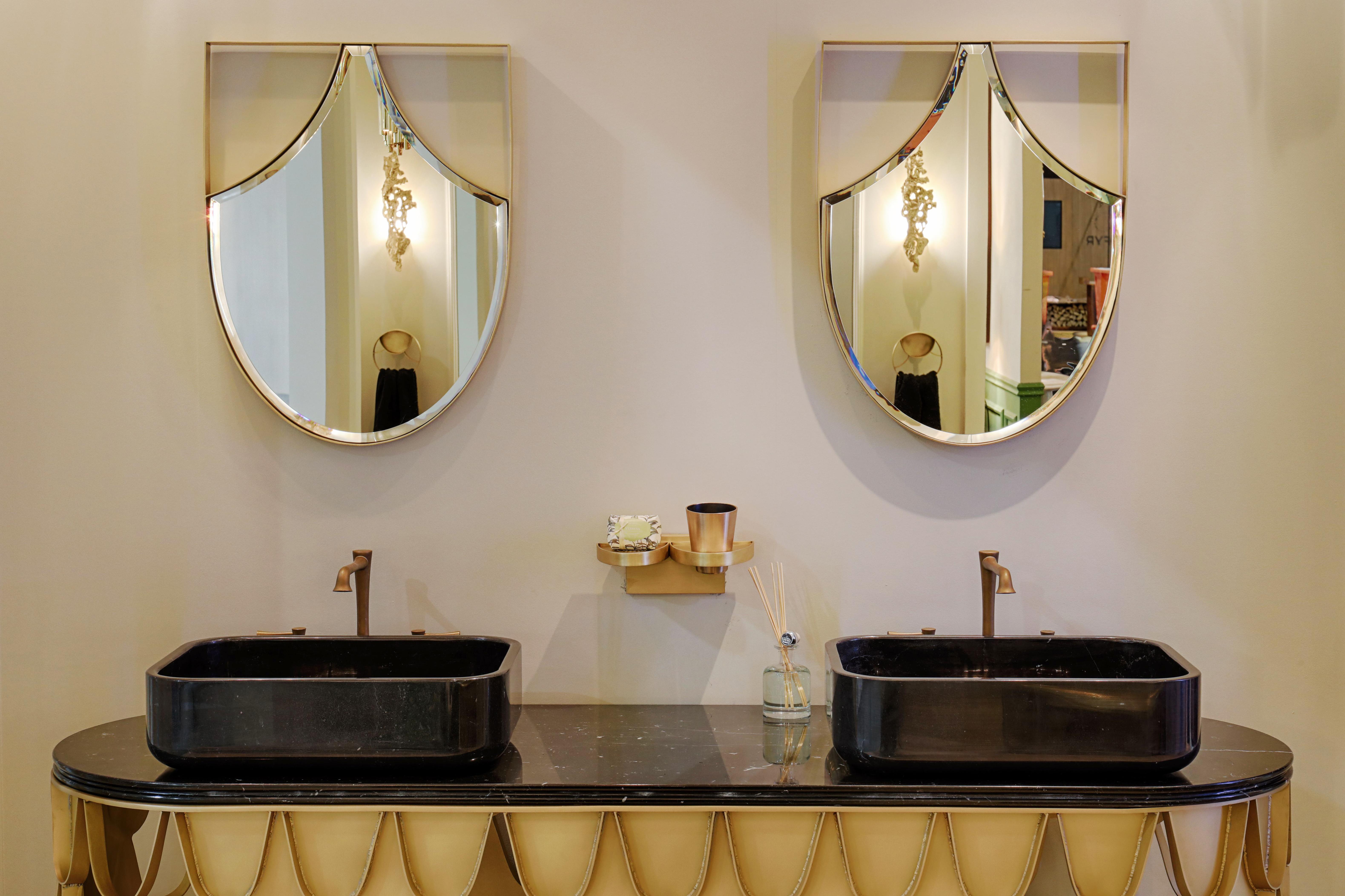 Luxury Bathrooms.Read More: http://www.maisonvalentina.net/en/inspiration-and-ideas/sem-categoria/luxury-bathroom-tips Luxury Bathroom 5 Luxury Bathroom Tips maison et objet september 7 HR