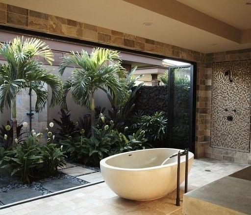 bathroom project, design, tropical bathroom Tropical bathroom Summer Vibes: 5 Tips to Create a Tropical Bathroom 35da5fb5fbabe3e87500122ab72574fd 2