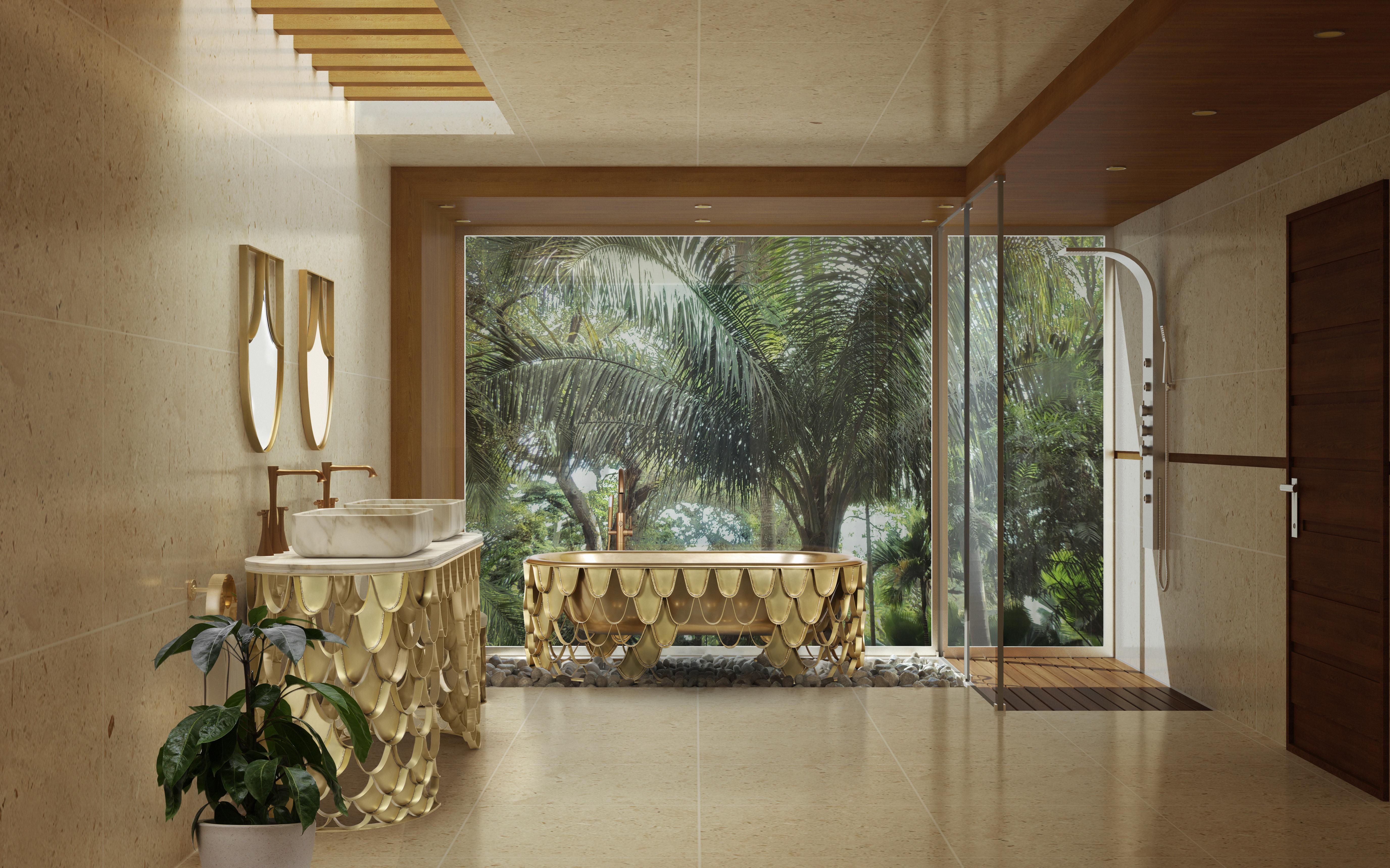 Tropical bathroom Summer Vibes: 5 Tips to Create a Tropical Bathroom 47 koi ambience 1 HR 1