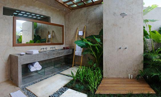 summer, modern, tropical bathroom, interior design Tropical bathroom Summer Vibes: 5 Tips to Create a Tropical Bathroom 4929c006948fb0300812f2690cccec8c