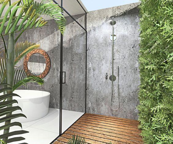 summer, modern, tropical bathroom Tropical bathroom Summer Vibes: 5 Tips to Create a Tropical Bathroom 7280bed4e3c504ddf99173ef4464e103