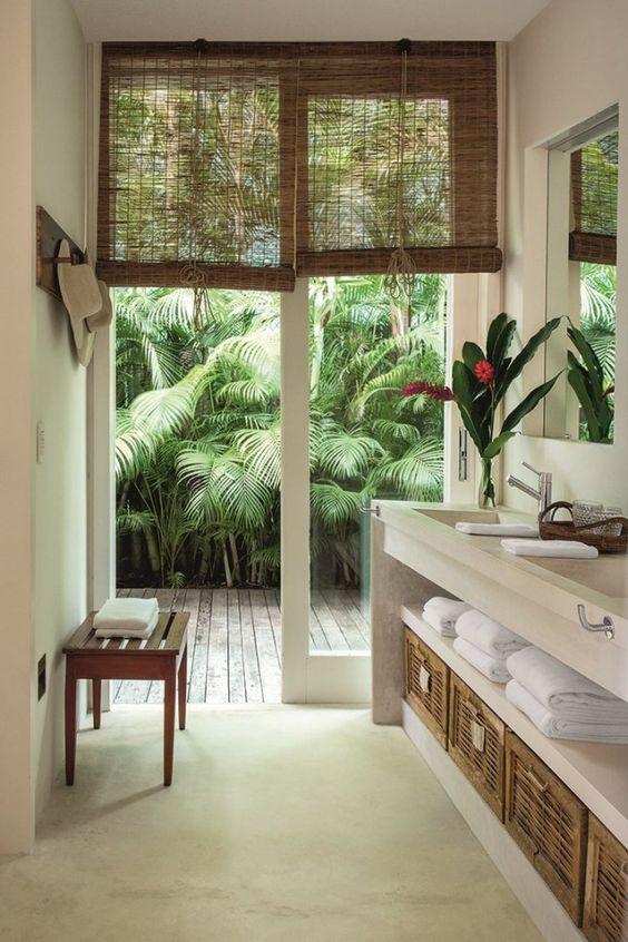 Interior design, bathroom project, design, tropical Tropical bathroom Summer Vibes: 5 Tips to Create a Tropical Bathroom 90b3c59d85640727baa8018863ad9f79
