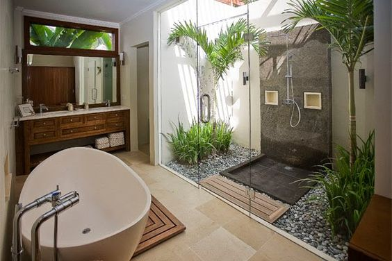 Interior design,tropical bathroom Tropical bathroom Summer Vibes: 5 Tips to Create a Tropical Bathroom e77b751dbdccce0c3b304d6d1f9f9294