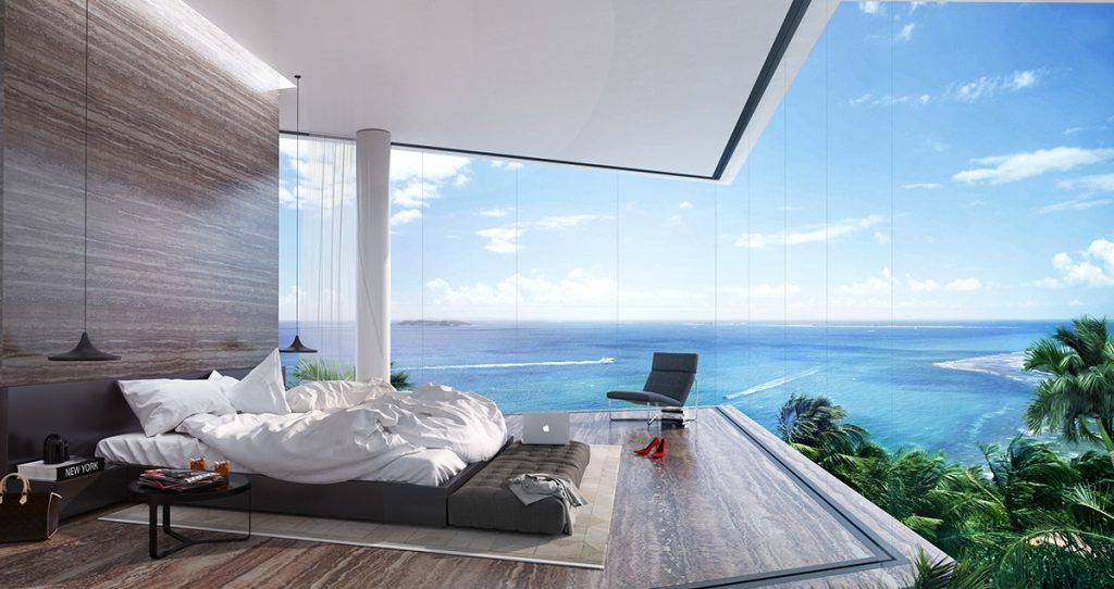 amazing ocean views bedroom amazing ocean views Bedrooms with Amazing Ocean Views luxury bedroom with a panoramic ocean view 1024x542