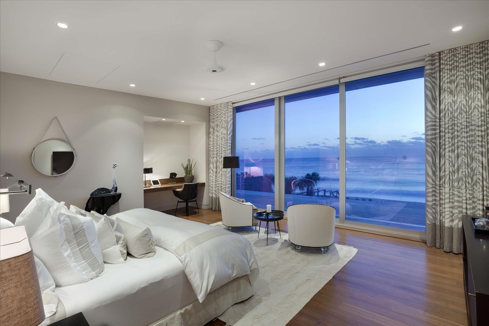 amazing ocean views Bedrooms with Amazing Ocean Views modern luxury home on ocean drive 17