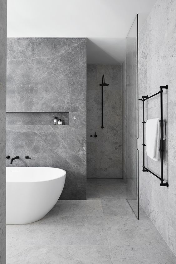 Minimalist Bathroom Design Ideas, Bathroom Design, Luxury Bathroom, Modern  Bathroom, White Bathroom