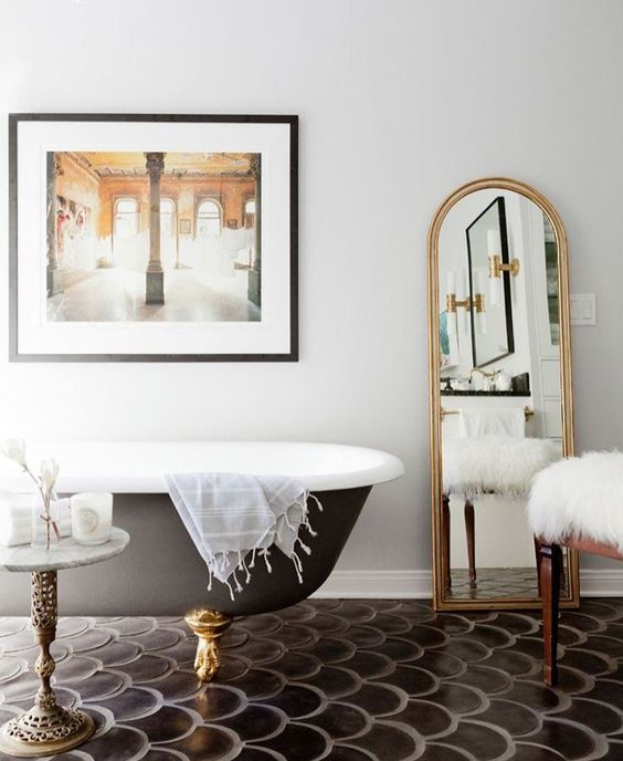 bathroom tile design Eye-Catching Bathroom Tile Design Ideas bathroom design fish scale tiles