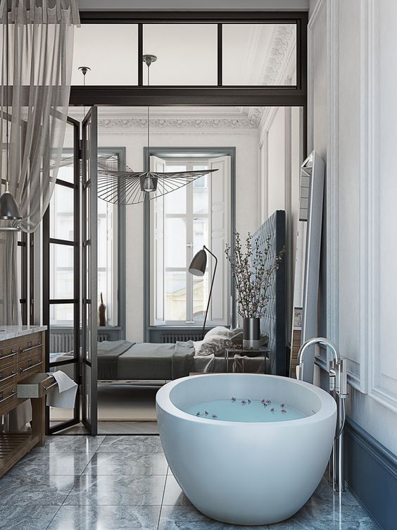 bathtub in the master bedroom,  bathtub in the master bedroom A Bathtub in the Master Bedroom: 7 Winning Designs bathtub in the master bedroom1