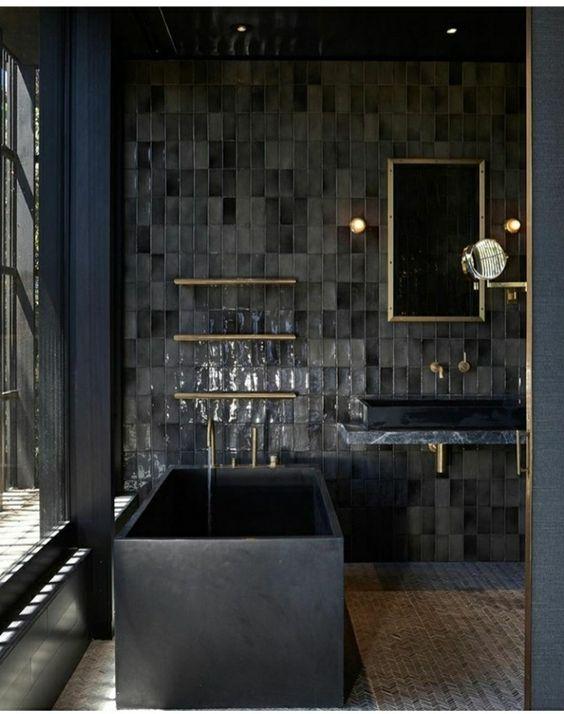 Black Bathtubs, contemporary bathroom, Contemporary bathrooms black bathtubs Dark Indulgence: Black Bathtubs black bathtubs 2