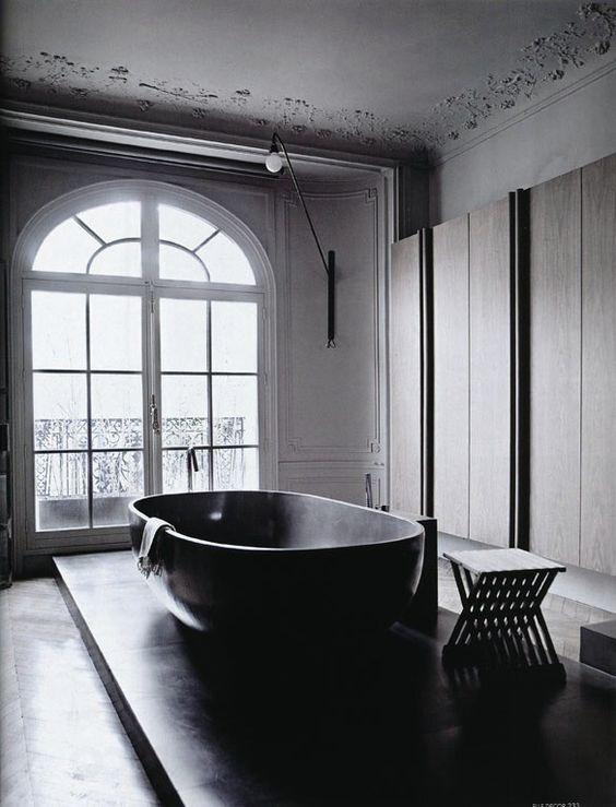 Black Bathtubs, contemporary bathroom, Contemporary bathrooms black bathtubs Dark Indulgence: Black Bathtubs black bathtubs 3