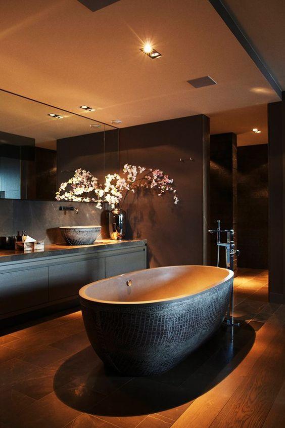 Black Bathtubs, contemporary bathroom, Contemporary bathrooms black bathtubs Dark Indulgence: Black Bathtubs black bathtubs