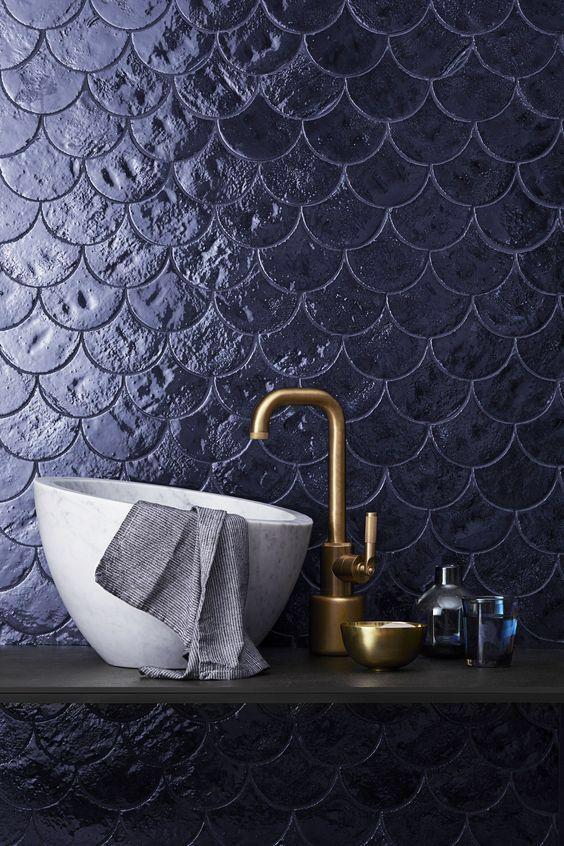 interior design,bathroom, luxury bathroom tile design Eye-Catching Bathroom Tile Design Ideas fish scale tiles