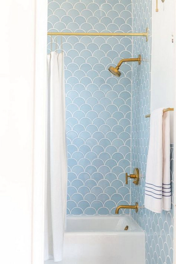 Bathroom Tile Design bathroom tile design Eye-Catching Bathroom Tile Design Ideas fish scale tile bathroom ideas