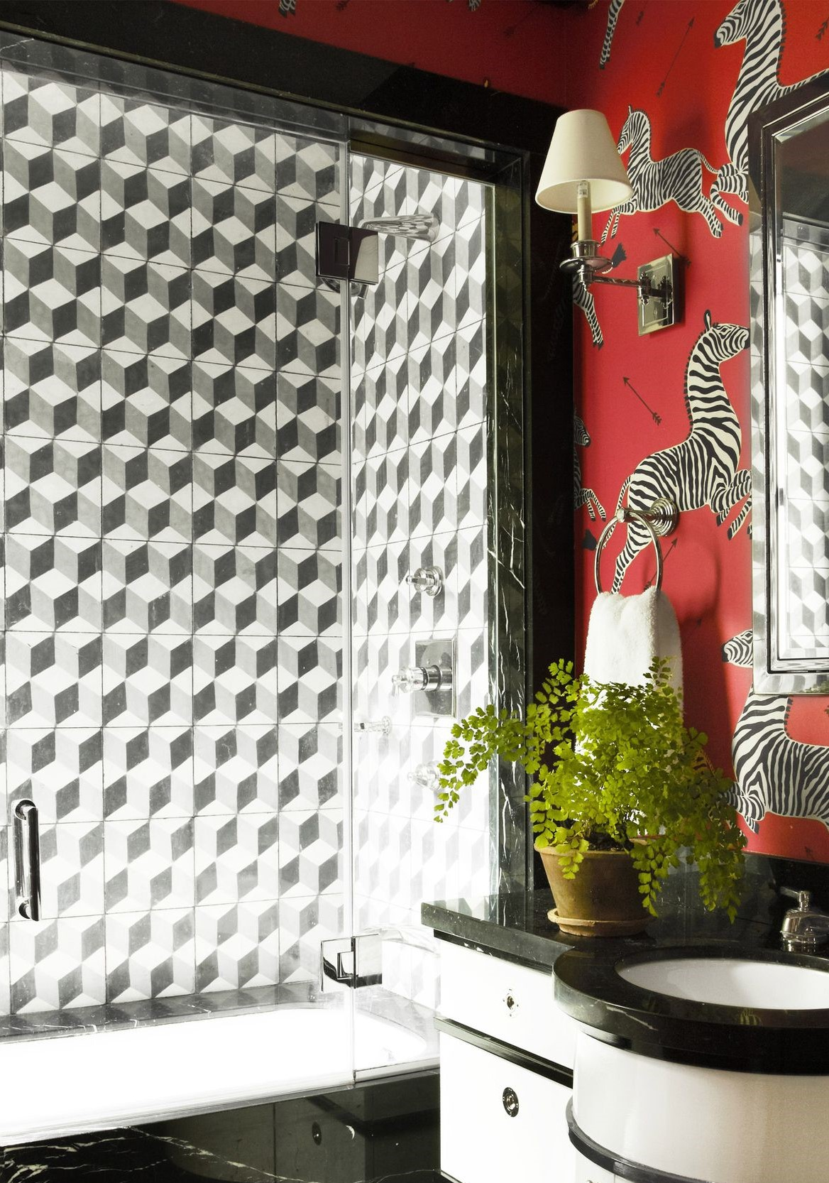 bathroom tile design Eye-Catching Bathroom Tile Design Ideas graphic tile design ideas 1