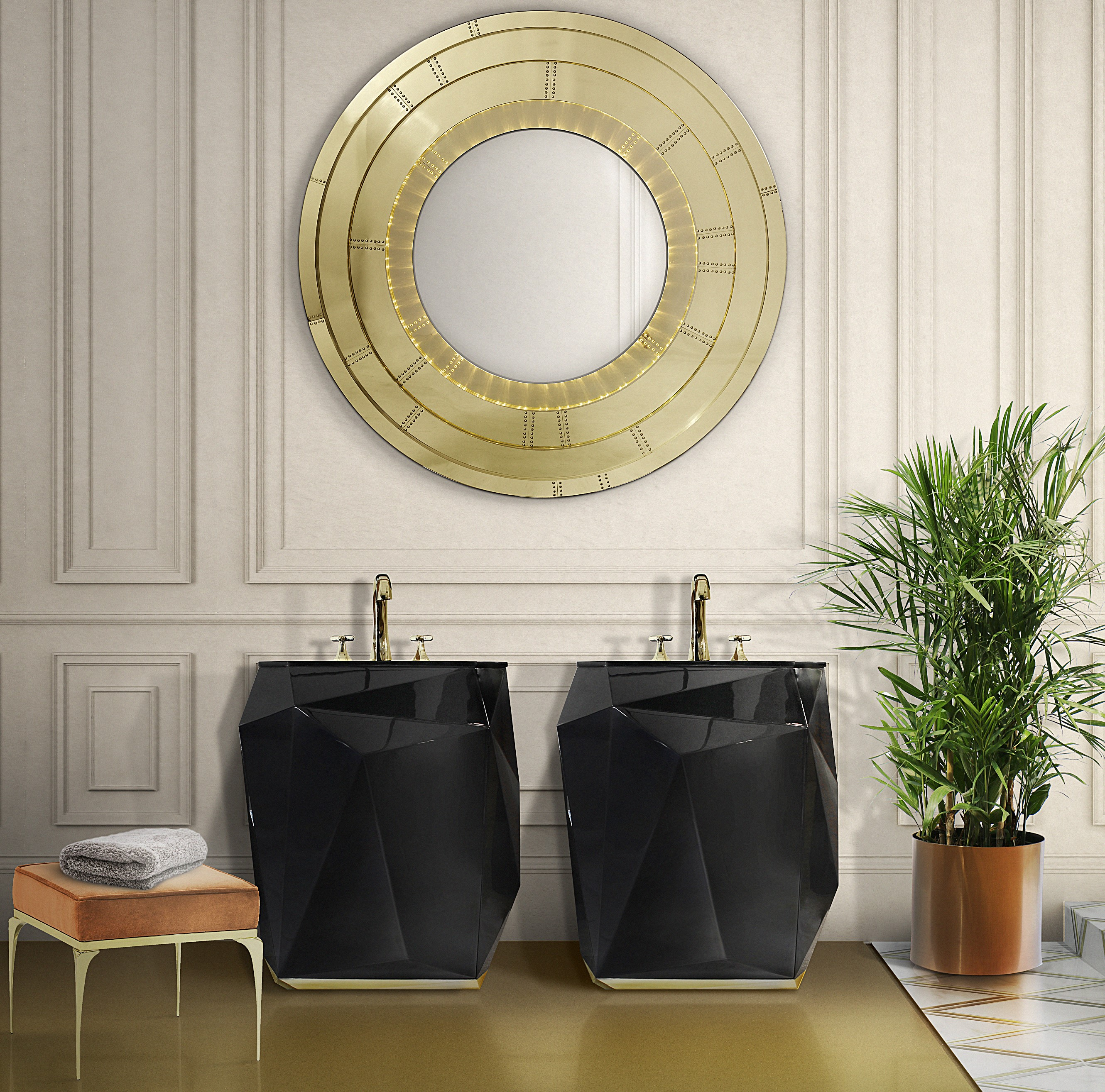 Design Inspiration,diamond collection,bathroom, bathtub, design,bathroom furniture design inspiration Design Inspiration: The Diamond Collection 25 diamond freestand blaze mirror HR 1