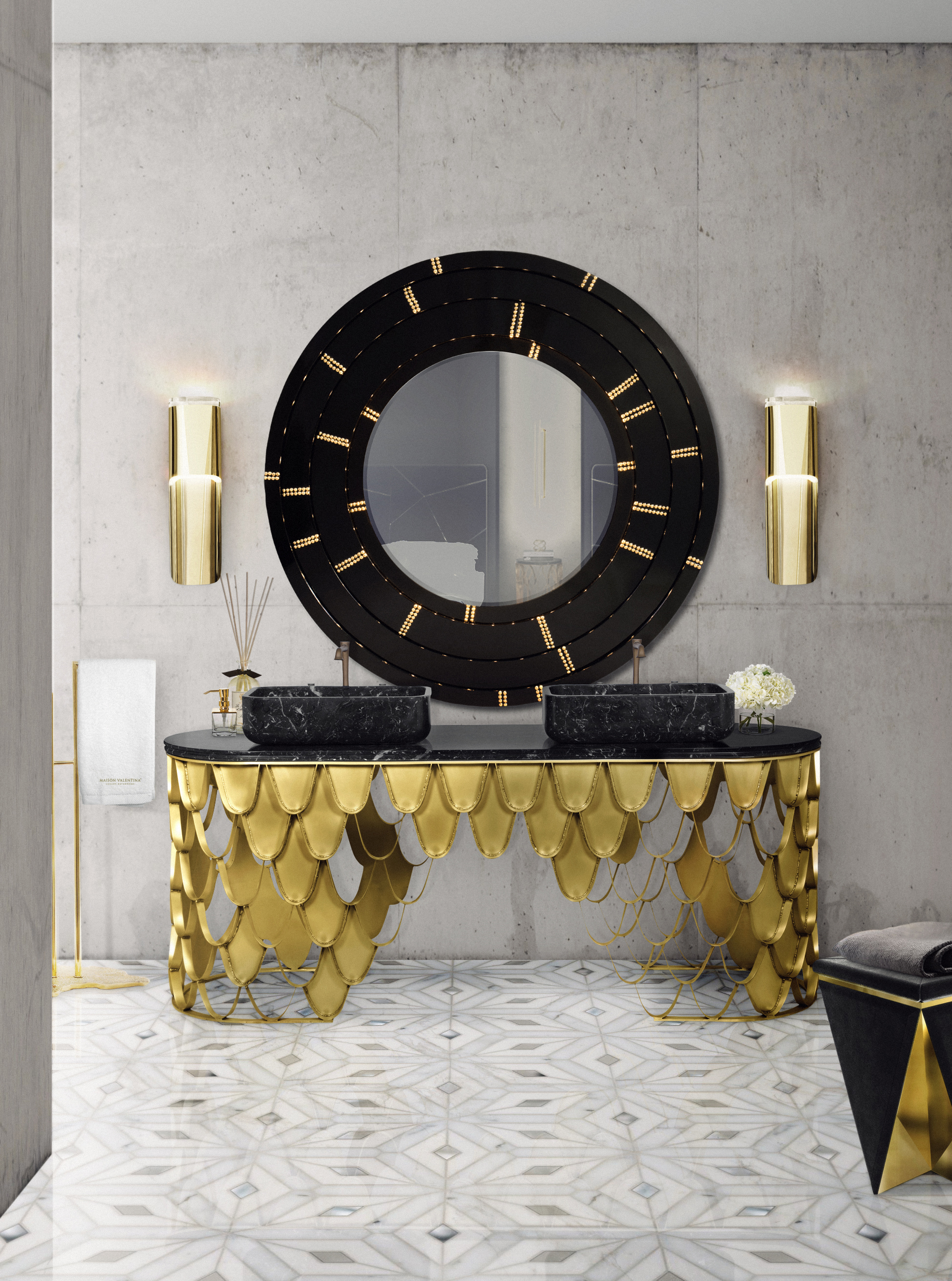 wall mirror,wall mirror ideas, inspiration, design inspiration, mirror wall mirror ideas 9 Wall Mirror Ideas That Will Give a Unique Look to Your Room 29 koi washbasin blaze mirror eden towel rack HR