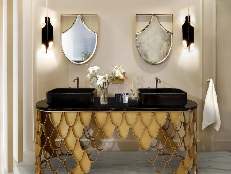 wall mirror ideas Wall Mirror Ideas to Inspire Lavish Bathroom Designs 40 koi washbasin koi mirror 1 HR 1 740x560