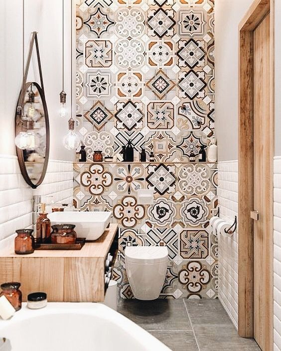 Patterned Tiles 12 Reasons To Fall In Love With Patterned Tiles PATTERNED TILE IDEAS 4