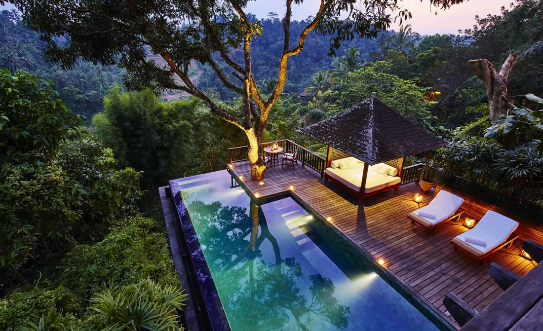 best hotel spas, spa, luxury, inspirations, spa treatments best hotel spas Pamper Yourself : 7 of the World's Best Hotel Spas como shambhala estate pool at night