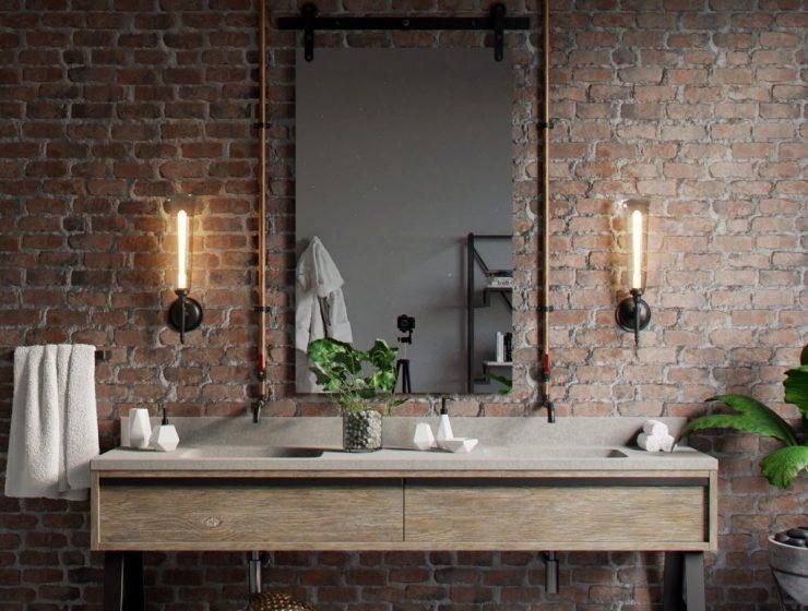 Industrial Style Bathroom Ideas Industrial Style Bathroom Ideas to Glam up Your Home industrial style bathroom mirror 1 740x560