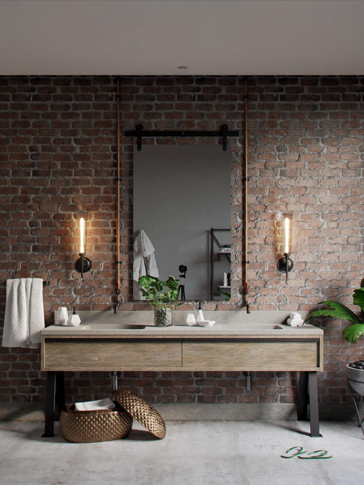 Industrial Style Bathroom Ideas Industrial Style Bathroom Ideas to Glam up Your Home industrial style bathroom mirror