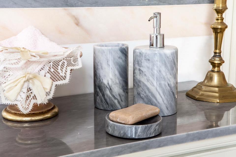 marble details, marble, luxury bathrooms, maison valentina, white marble, interior design