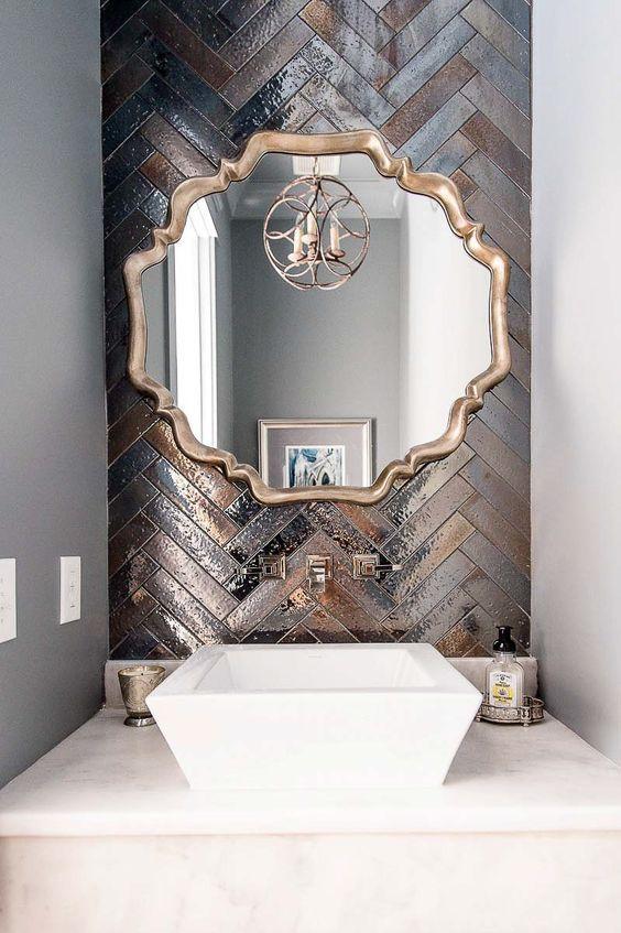 Bathroom Ceramic Tile Backsplash