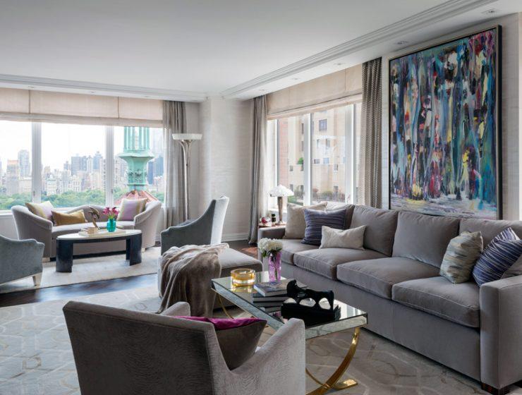 Interior Design Trends For 2019 4 Fantastic Interior Design Trends For 2019 Central Park West Living Room 740x560