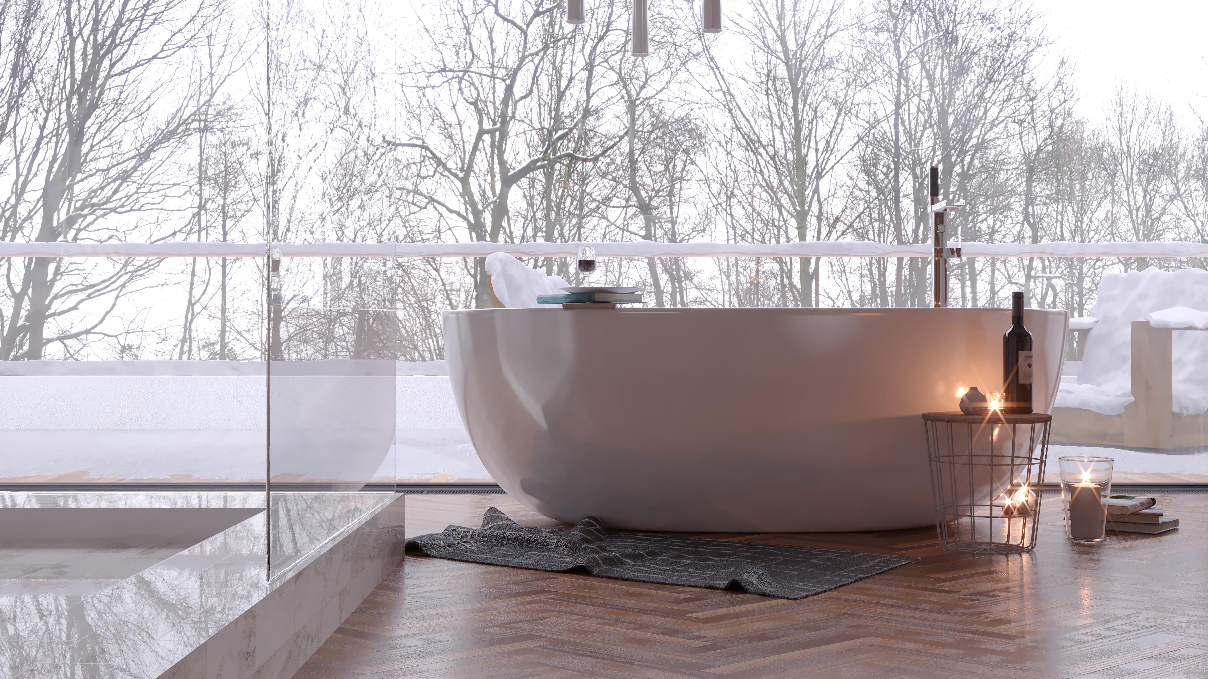 bathtubs 10 Bathtubs To Melt Away The Winter Coldness interior render blender corona