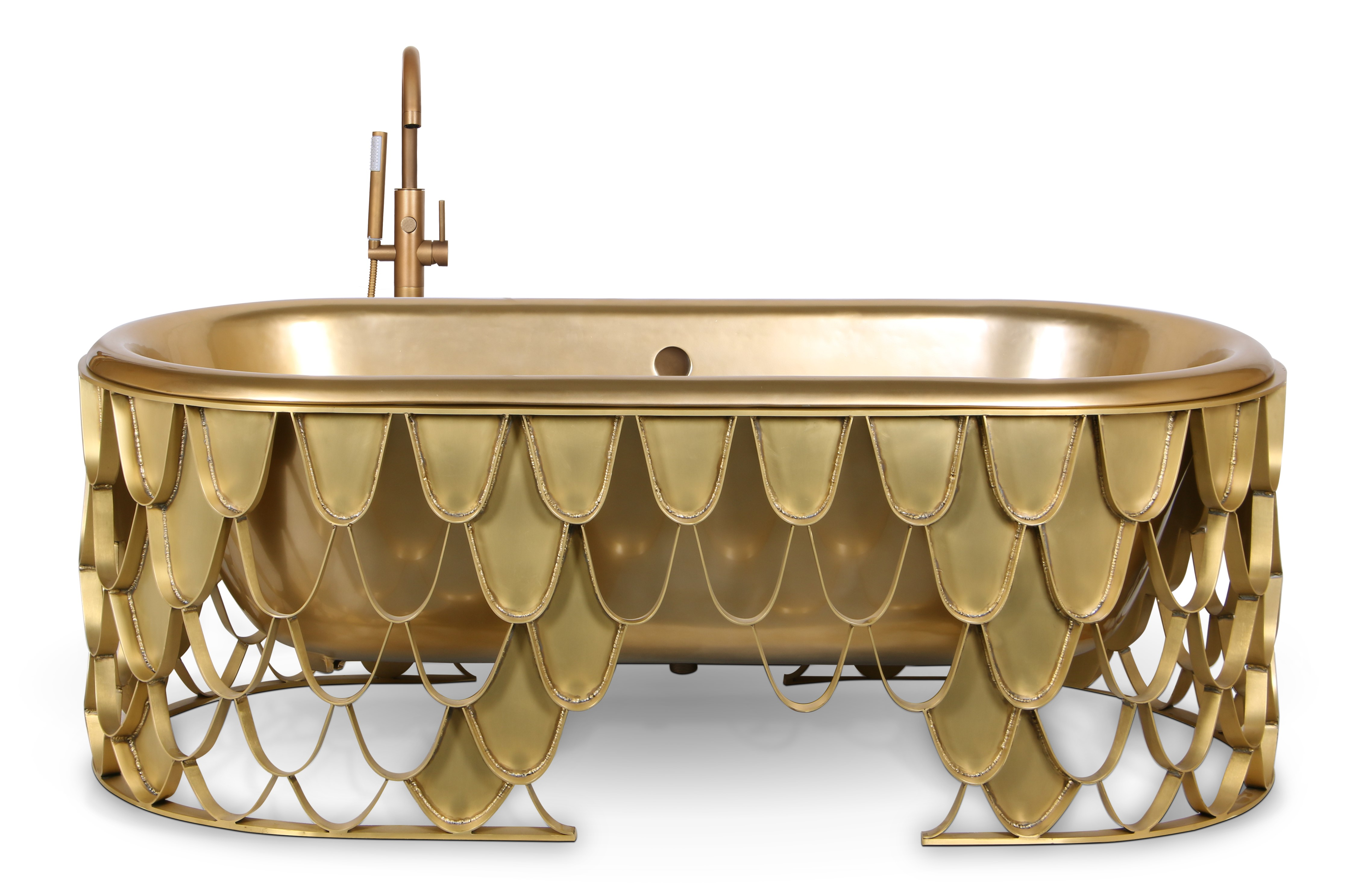 Mixed Metals Decor, 2019 trends, decoration, maison valentina, metals, brass, cooper, steel mixed metals decor 2019 Top Trends – Get the Best Out of a Mixed Metals Decor koi bathtub 1 HR