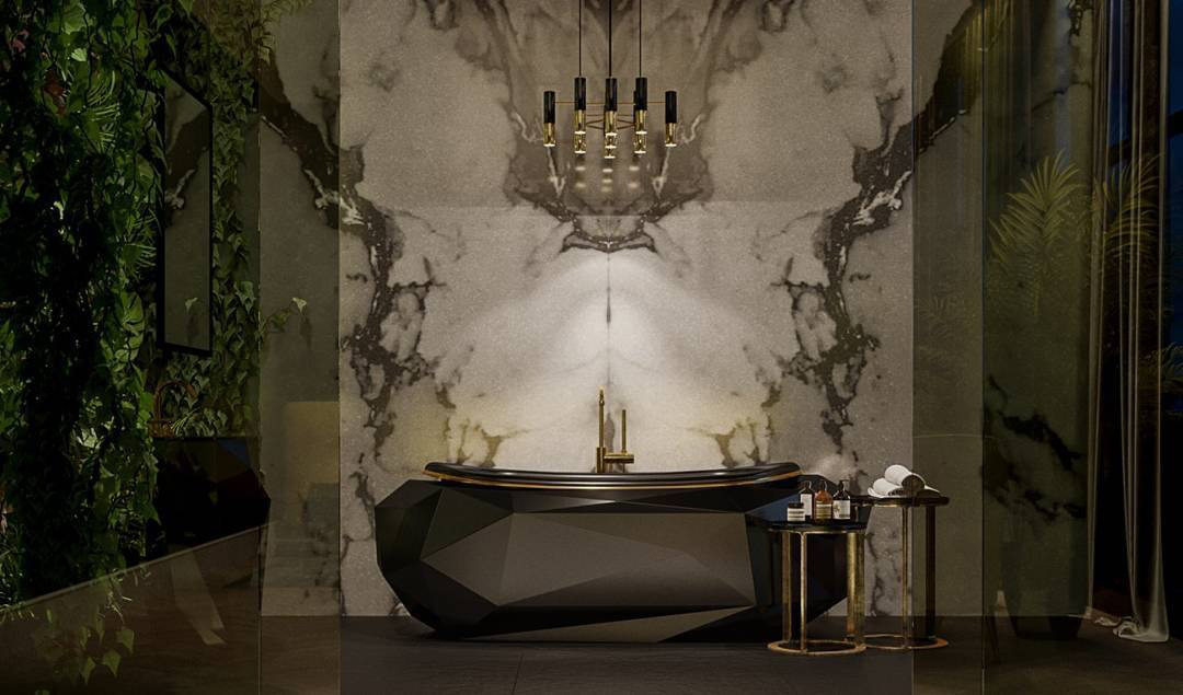 black bathrooms Top 2019 Trends : Black Bathrooms project maison valentina small black bathroom black bathtub