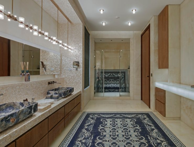zz architects It's a Marble World: ZZ Architects' Bathroom Designs Its a Marble World ZZ Architects Bathroom Designs 3 1 1 740x560