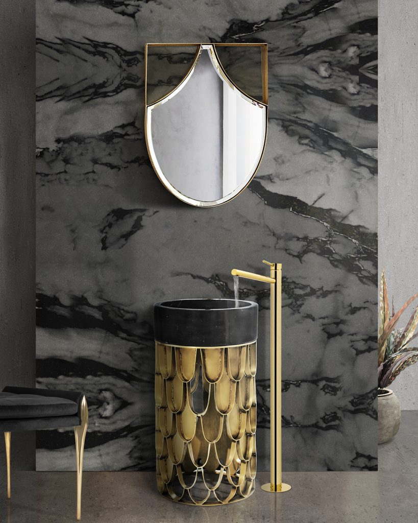Contemporary Style, bathroom, bathtub, koi, maison valentina, brabbu, design, bathroom decor  contemporary style Contemporary Style – Get Inspired by Our Favorite Bathroom Decor Ideas Contemporary Style 6 819x1024