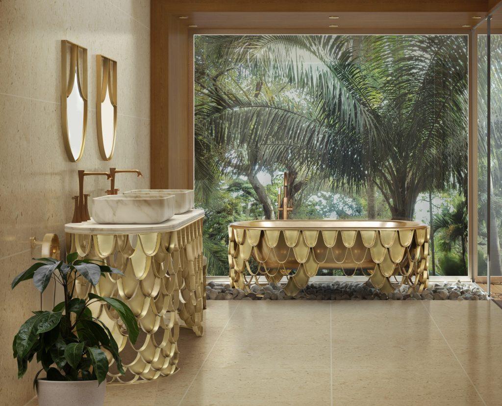 Mid-Century, bathroom, design, decoration, interior design, bathtub, washbasin  Design Ideas and Inspiration – Add a Mid-Century Twist to Your Bathroom Mid Century Bathrooms 4 2 2 1024x828