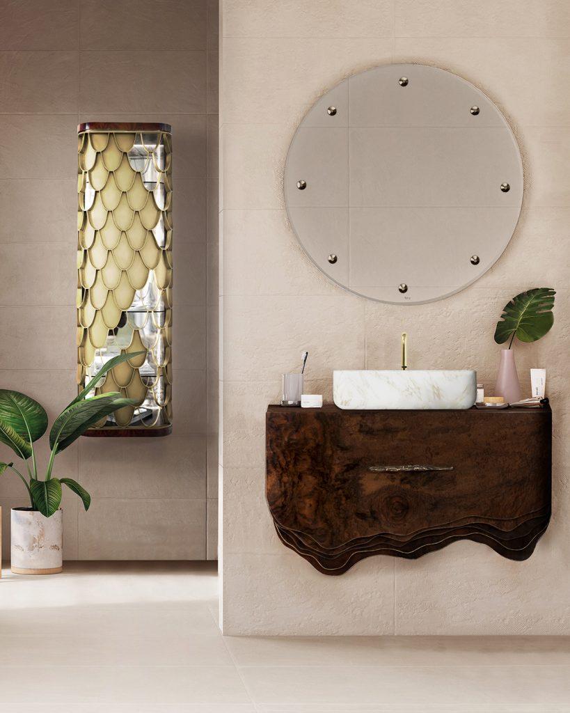 Mid-Century, bathroom, design, decoration, interior design, bathtub, washbasin  Design Ideas and Inspiration – Add a Mid-Century Twist to Your Bathroom Mid century Bathrooms 1 819x1024