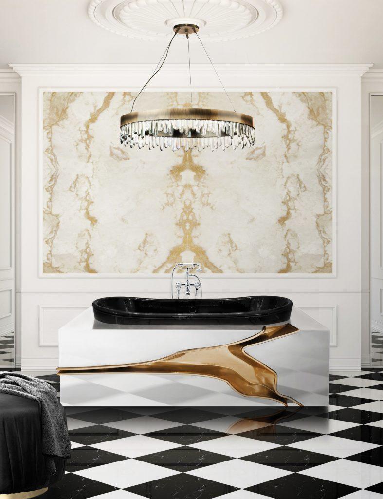 Mid-Century, bathroom, design, decoration, interior design, bathtub, washbasin