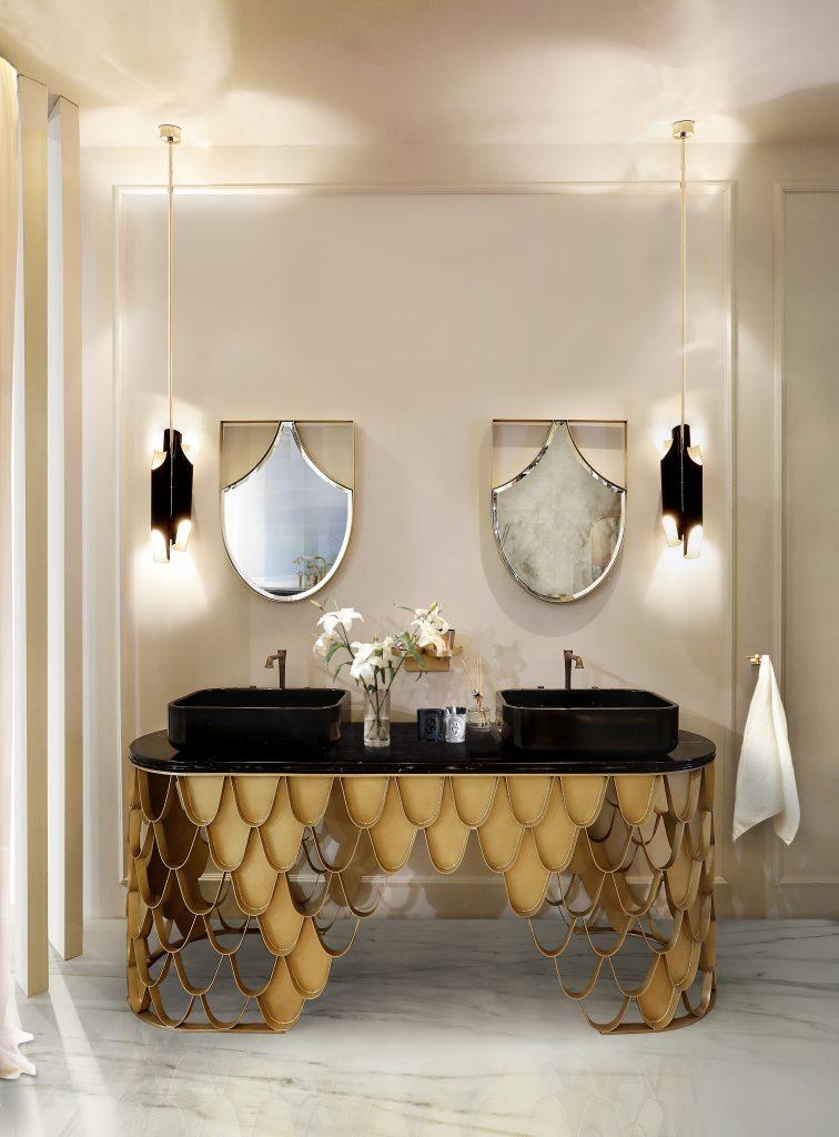 Mid-Century, bathroom, design, decoration, interior design, bathtub, washbasin  Design Ideas and Inspiration – Add a Mid-Century Twist to Your Bathroom Mid century Bathrooms 5 1 756x1024