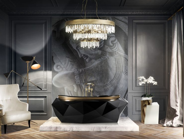 black bathrooms Black Bathrooms: The Ultimate Style and Decoration Guide Black bathroom 1 740x560