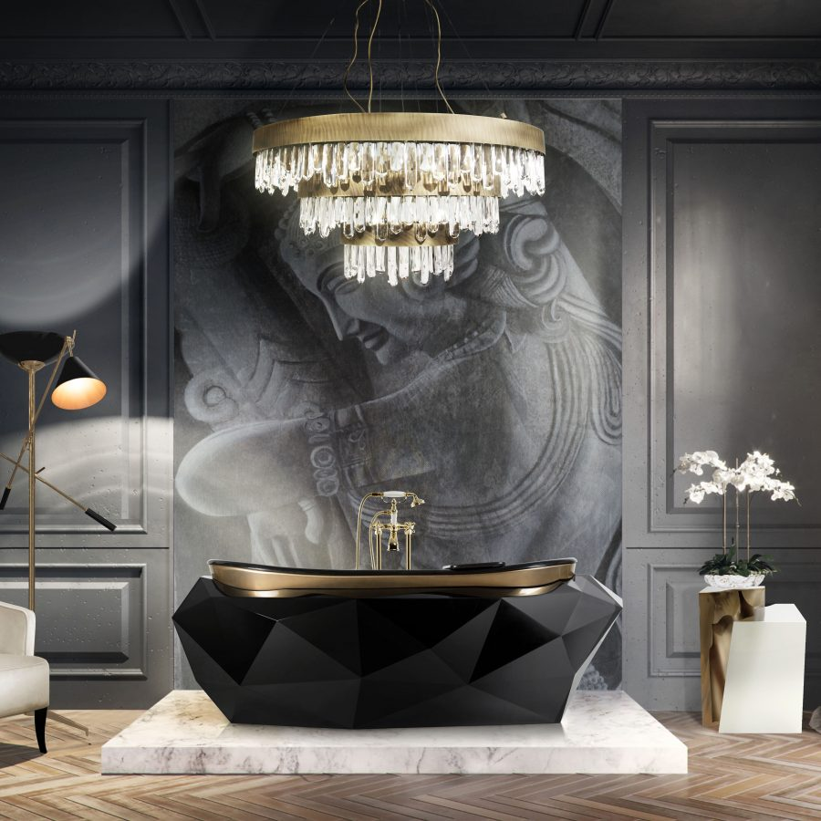 black bathrooms Black Bathrooms: The Ultimate Style and Decoration Guide Black bathroom 1 900x900  homepage Black bathroom 1 900x900