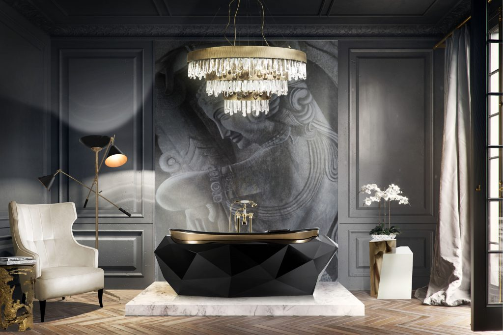 black bathrooms Black Bathrooms: The Ultimate Style and Decoration Guide Black bathroom 1024x682