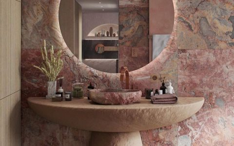 6 Dazzling Pink Bathrooms that Will Inspire You Pink Bathrooms 4 2 480x300