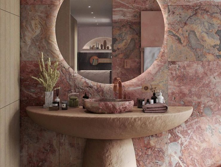 pink bathrooms 6 Dazzling Pink Bathrooms that Will Inspire You Pink Bathrooms 4 2 740x560