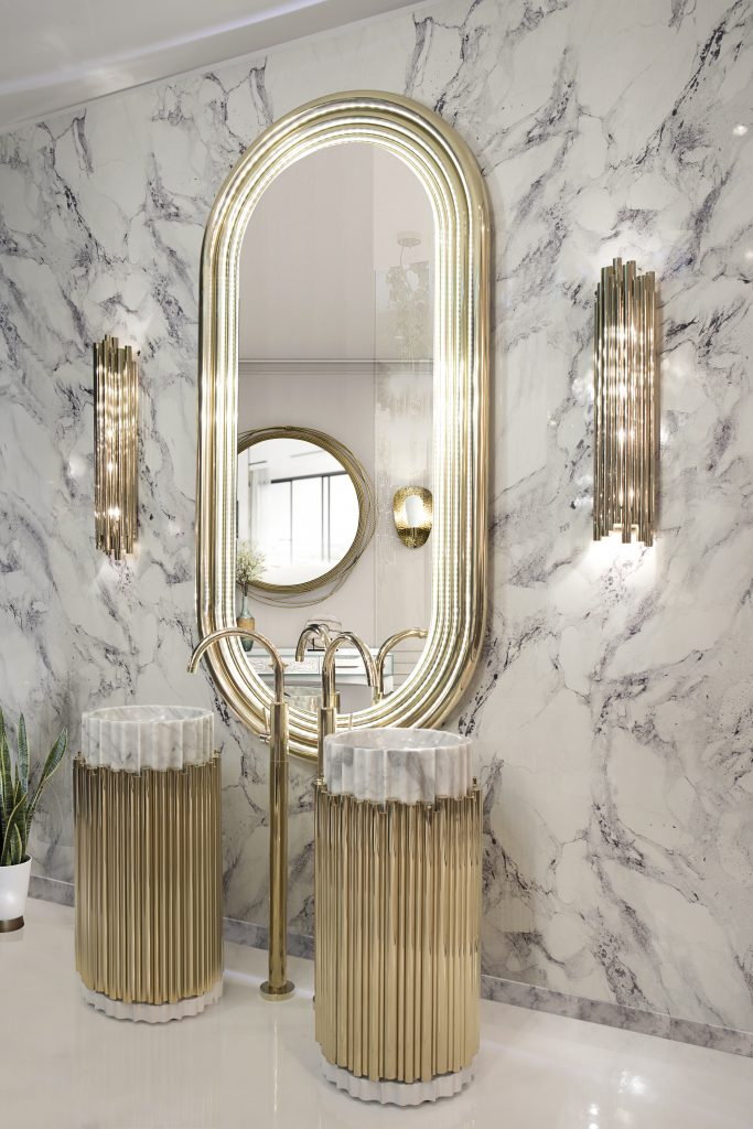Marble Bathroom surface White marble bathroom Marble Bathroom: 5 Luxury Incredible Ideas 23 colosseum mirror symphony freestand maison valentina HR 1 683x1024