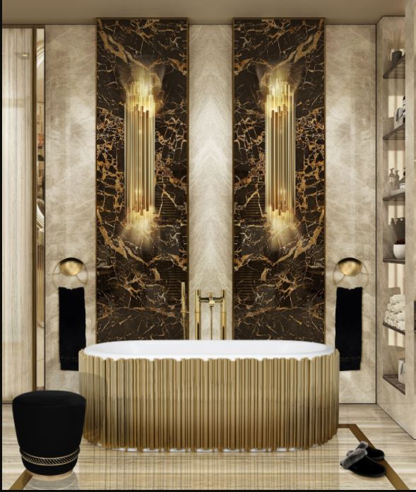 Marble Bathroom surface Brown  marble bathroom Marble Bathroom: 5 Luxury Incredible Ideas Capturar