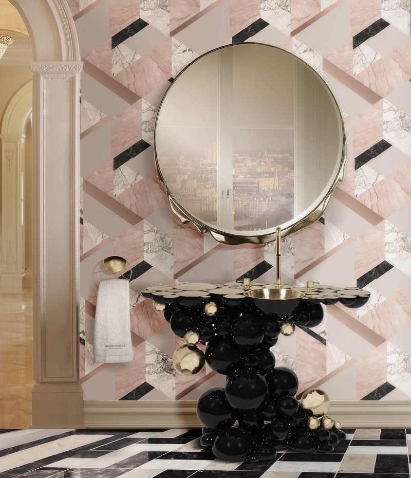 Bathroom Trends Living Color bathroom trends Bathroom Trends for 2021: Inspiring Looks and Ideas for your Bathroom Rose color 1
