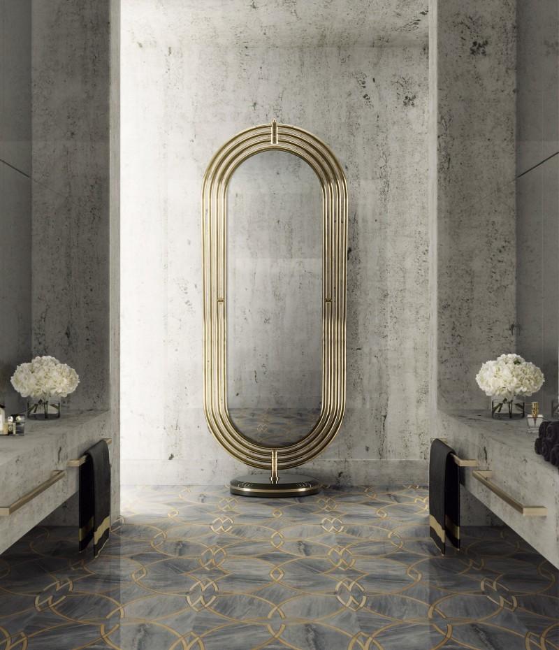 bathroom inspiration by dubai top interior designers Bathroom Inspiration By Dubai Top Interior Designers colosseum floor mirror 1
