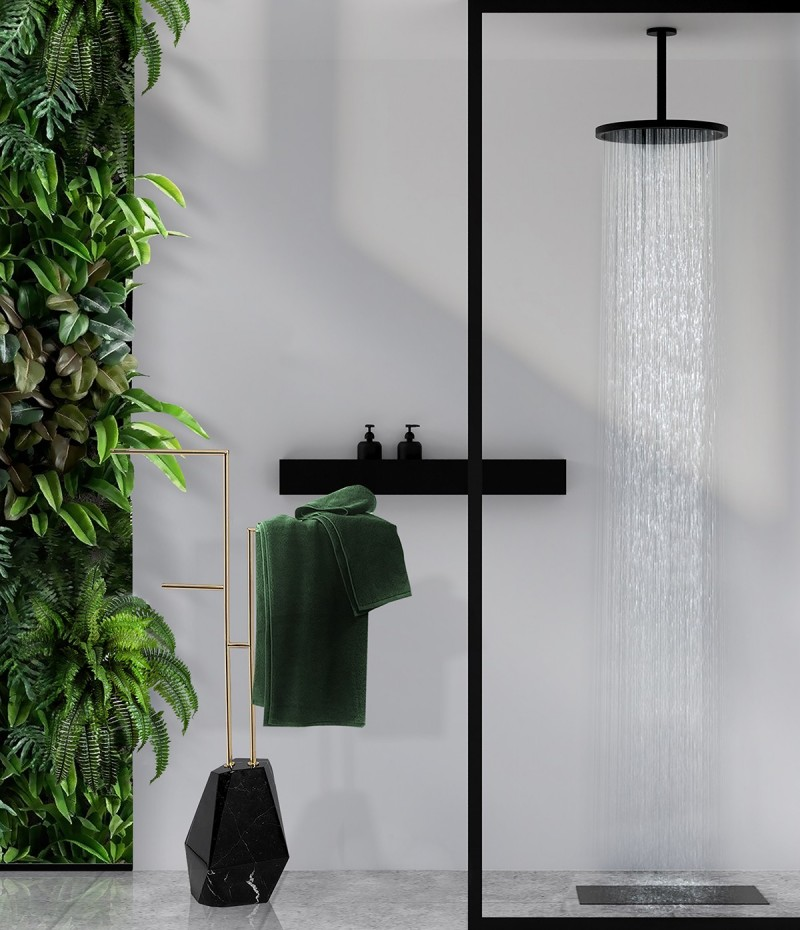 inspiring bathroom projects Inspiring Bathroom Projects from London Interior Designers sleek bathroom design with diamond towel rack 1